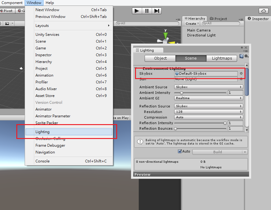 【Unity】5.0版本後的Skybox和舊版本材質下載 - 【Unity遊戲製作】勇者拉德小酒館