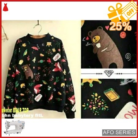 AFO601 Model Fashion Sweter Bear Top Modis Murah BMGShop