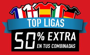 sportium SuperCombis TopLigas: Hasta un 50% más hasta 1 mayo