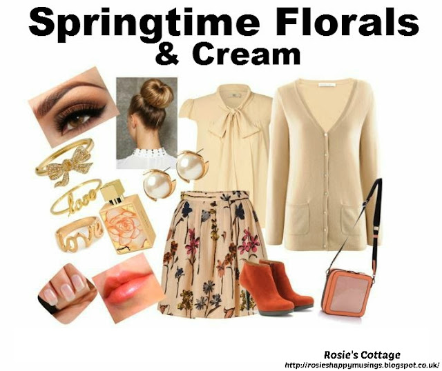 Release your inner designer with Polyvore - Springtime Florals & Cream by Rosies Cottage