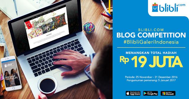 Ayo Ikutan Blog Competition 2016 dari Blibli.com