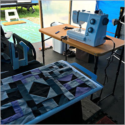February 27, 2019 Quilting in our gazebo