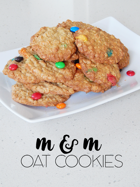 Healthy And Easy M & M Oat Cookies | empowered internet women