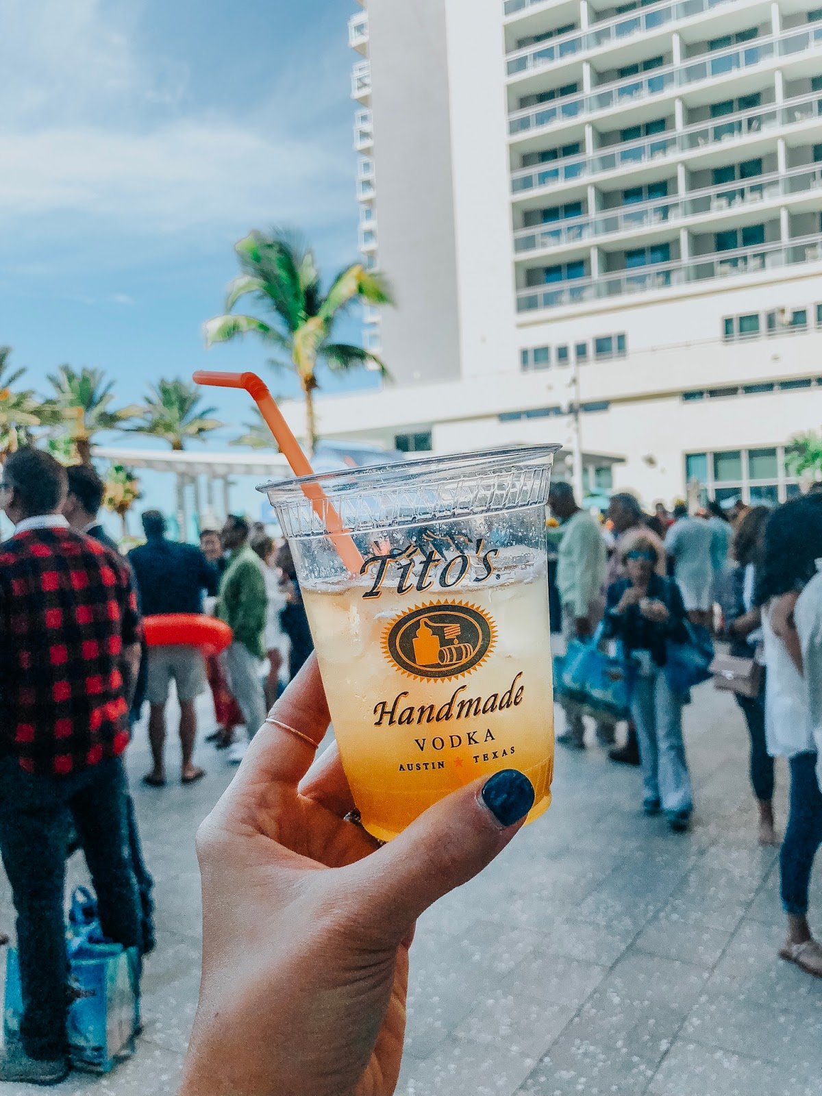 Tito's Vodka at Clearwater Beach's Uncorked food and wine festival located at the Wyndham Grand VIP Spirts Lounge