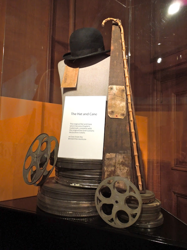 Original Charlie Chaplin hat and cane