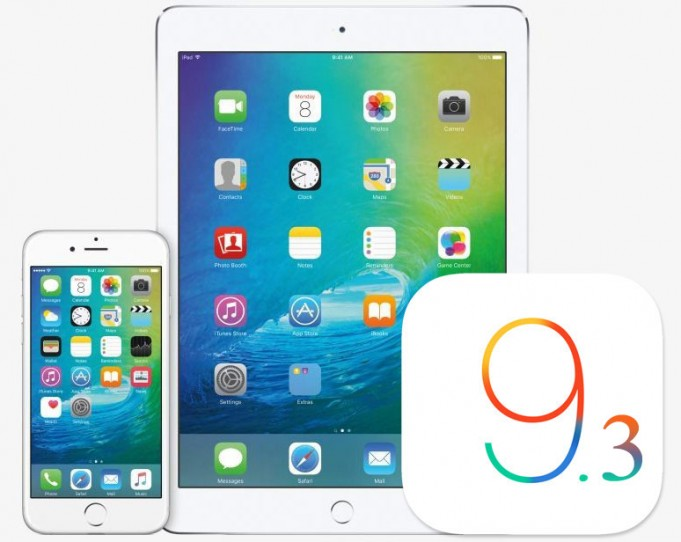 iOS 9.3 beta 3 was released publicly