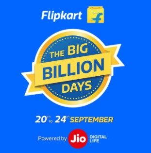 Flipkart Big Billion Days Sale - 20th - 24th September 2017