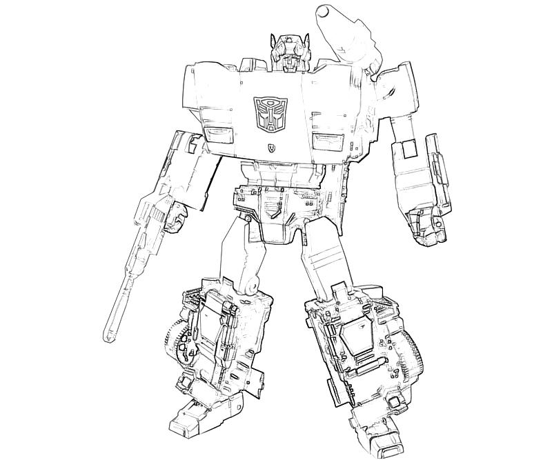 transformers coloring pages side swiper - photo#12