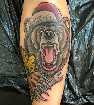 bear angery tattoo designs