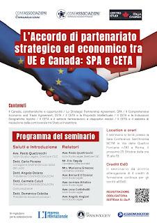 L'Accordo di partenariato strategico ed economico tra UE e Canada: SPA e CETA