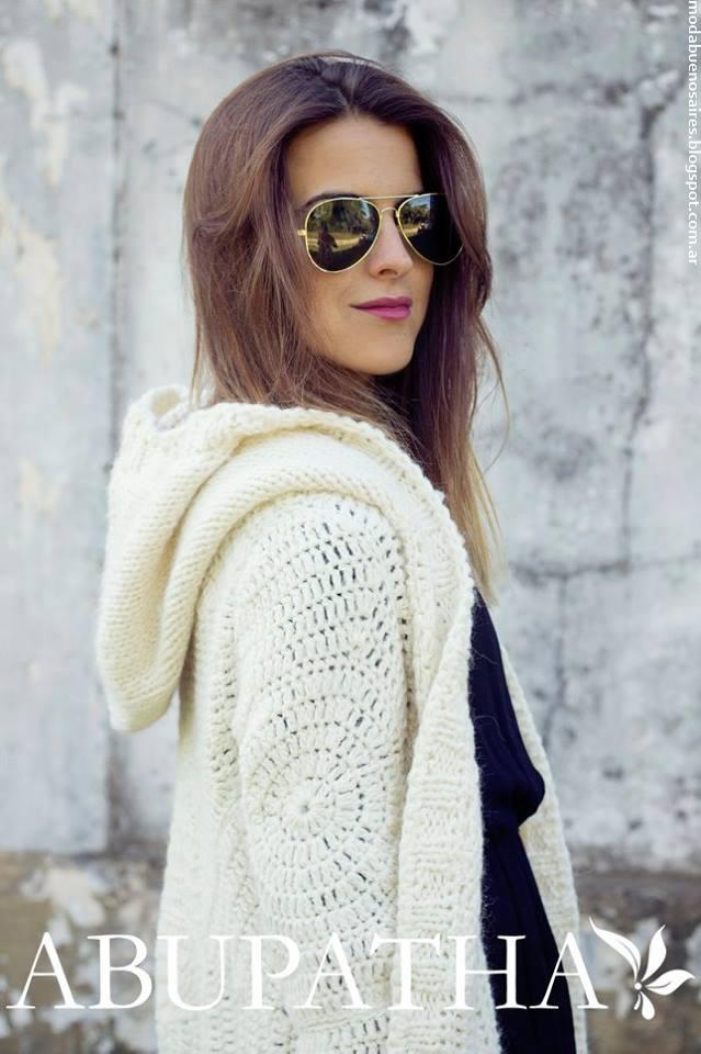 Moda invierno 2016 ropa de mujer tejidos Abupatha.
