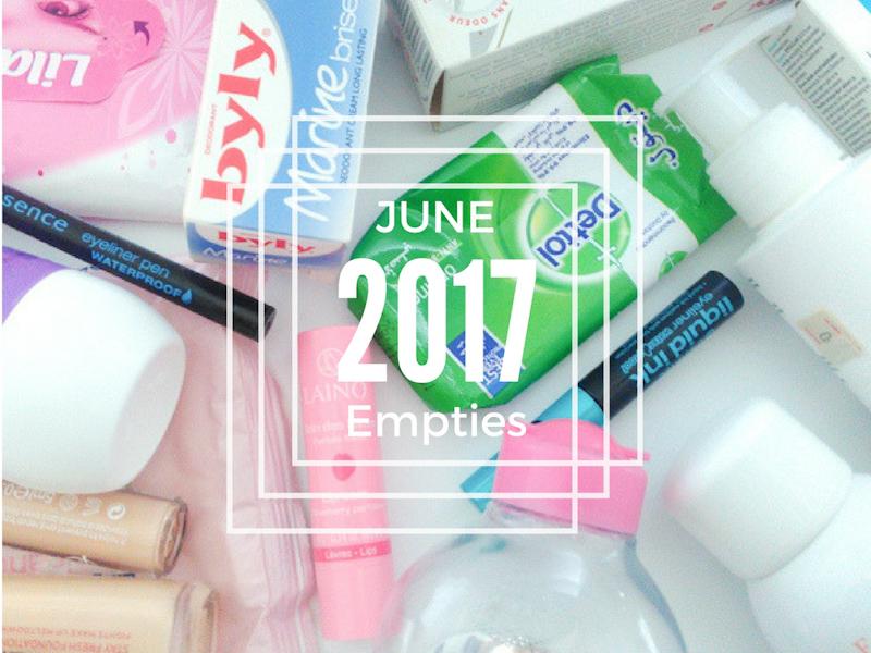 June 2017 Empties