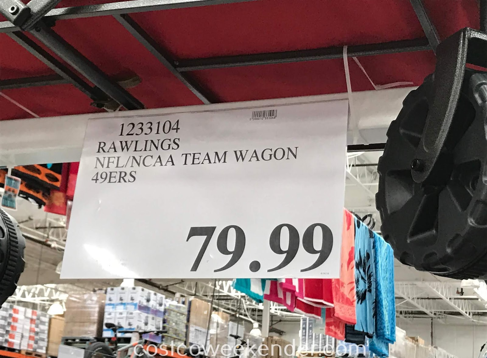 Deal for the Rawlings NFL/NCAA Tailgate Team Wagon at Costco
