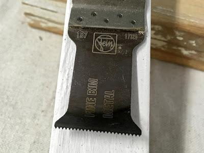 porch railing repair rot fix fein tool bimetal blade