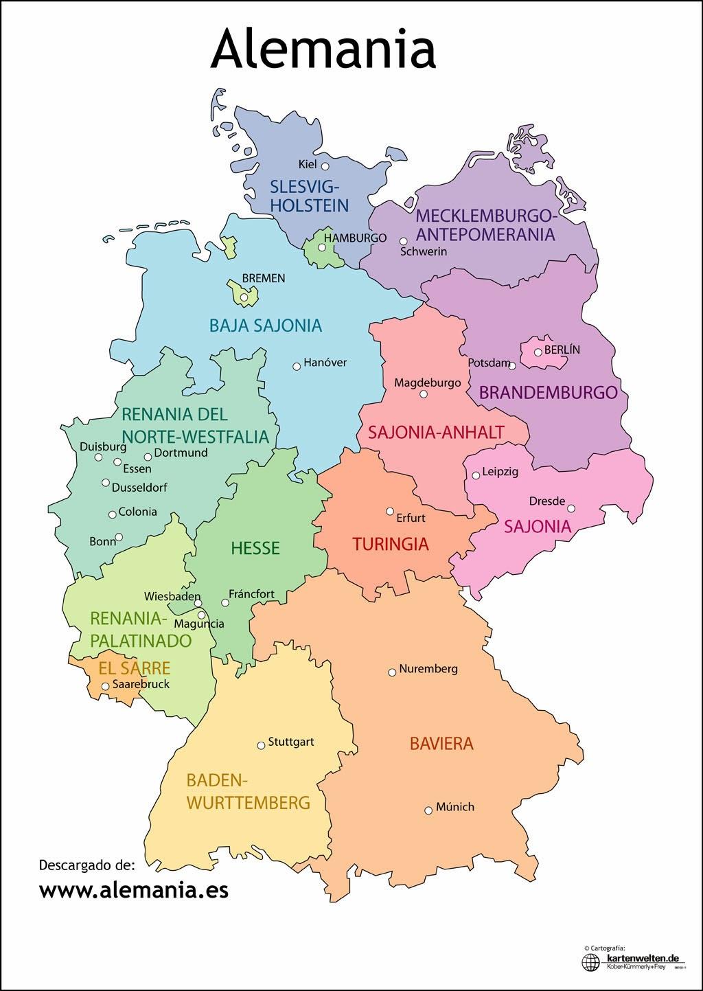 Mapa De Alemania Actual