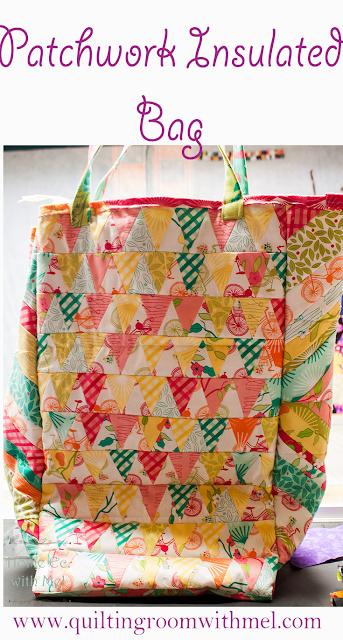 patchwork insulated bag