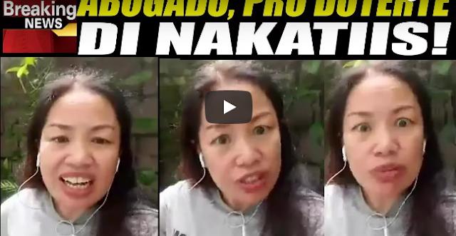 Pro Duterte Lawyer Di Nakatiis!