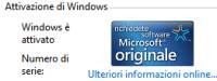backup attivazione Windows