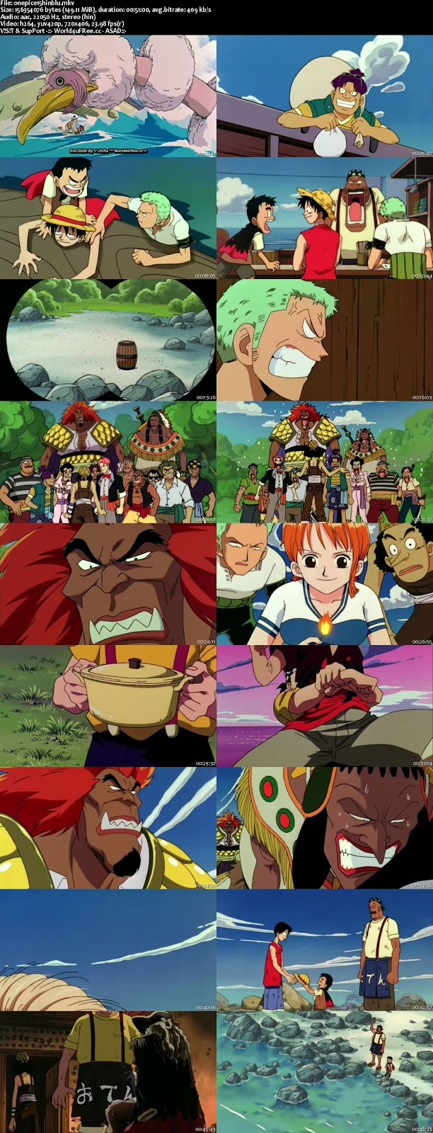 One Piece The Movie 2000 BRRip Hindi Dubbed 480p 150mb https://world4ufree.ws