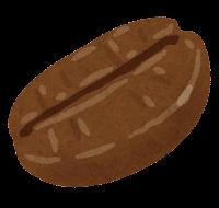 コーヒー豆のイラスト(シティロースト)