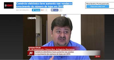 #J10 da #GloboNews entrevista Gerson Rolim sobre e-Commerce