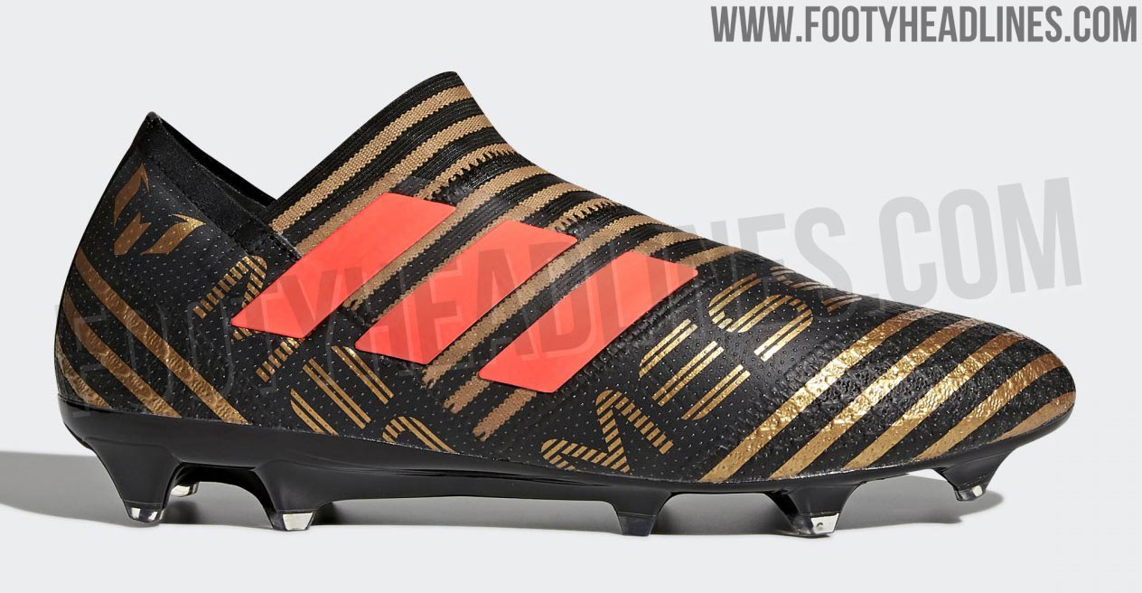 Adidas Nemeziz Messi 17+ 360Agility - Black / Solar Red / Tactile Gold  Metallic
