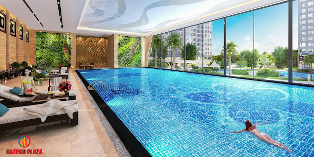 Bể bơi bốn mua chung cư Hateco Plaza