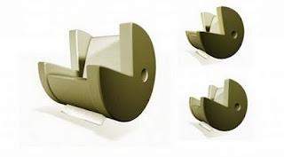 diseño de silla muy ingeniosa de pac-man