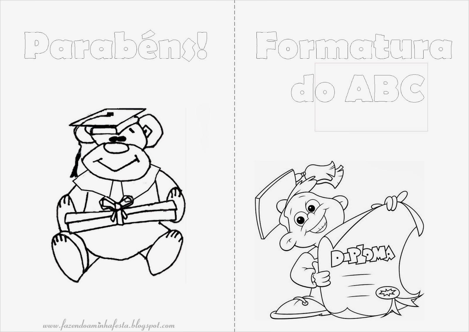 Desenhos Para Colorir Formatura Abc Artes E Mimos Diy