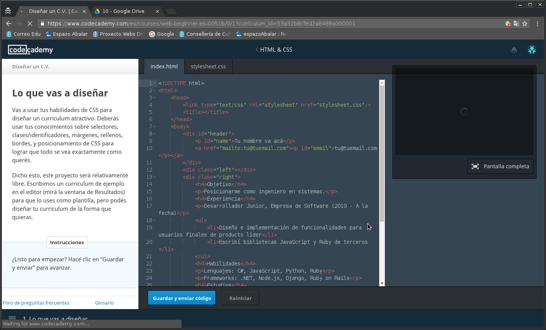 HTML XI: creando un currículum