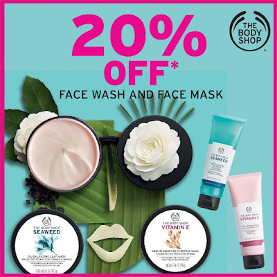 The Body Shop Malaysia Face Wash & Masks Discount Promo