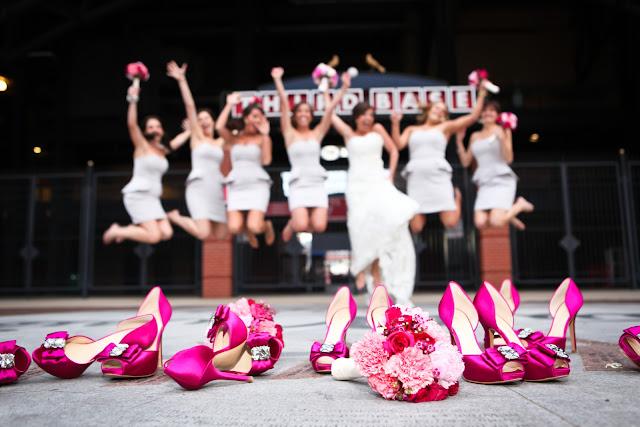 Ideias criativas de fotos de madrinhas e noivas