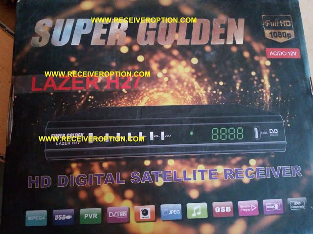 SUPER GOLDEN LAZER H27 HD RECEIVER POWERVU KEY NEW SOFTWARE