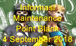 Informasi Maintenance PB Tanggal 4 September 2018