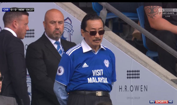 Vincent Tan modelling his chest trousers fashion line