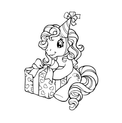 Fun learn free worksheets for kid my little pony for My little pony christmas coloring pages