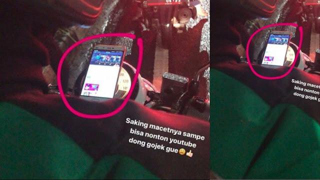 Penumpang Pergoki Driver Ojol Nonton Video, Netizen Dibuat Heboh Lihat Videonya