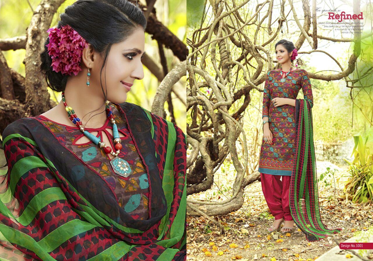 ENTRY – Designer Cotton Salwar Suit Dress Material