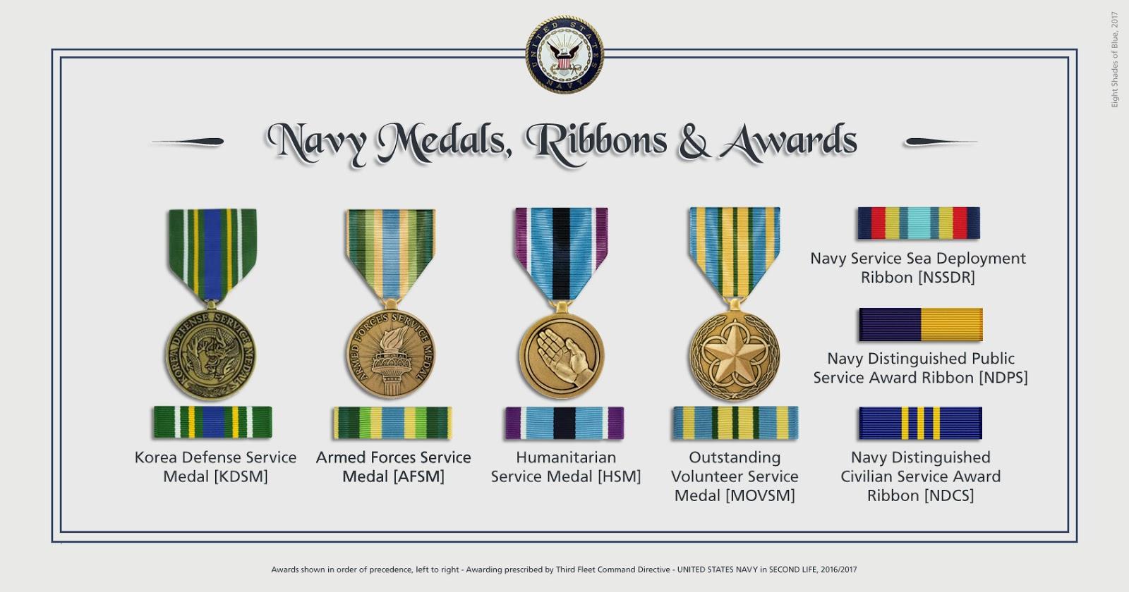 N A S  Miramar NFWS / SL: Medals and Awards of Third Fleet