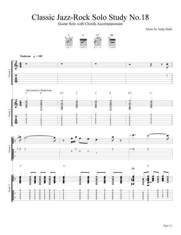 Classic Jazz Rock Guitar Compositions Of Sadip Shahi 2016