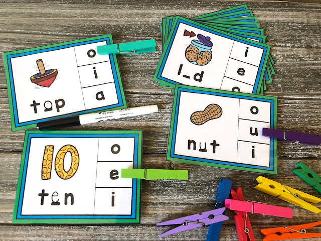 Hands-on phonics activity for Kindergarten and first grade