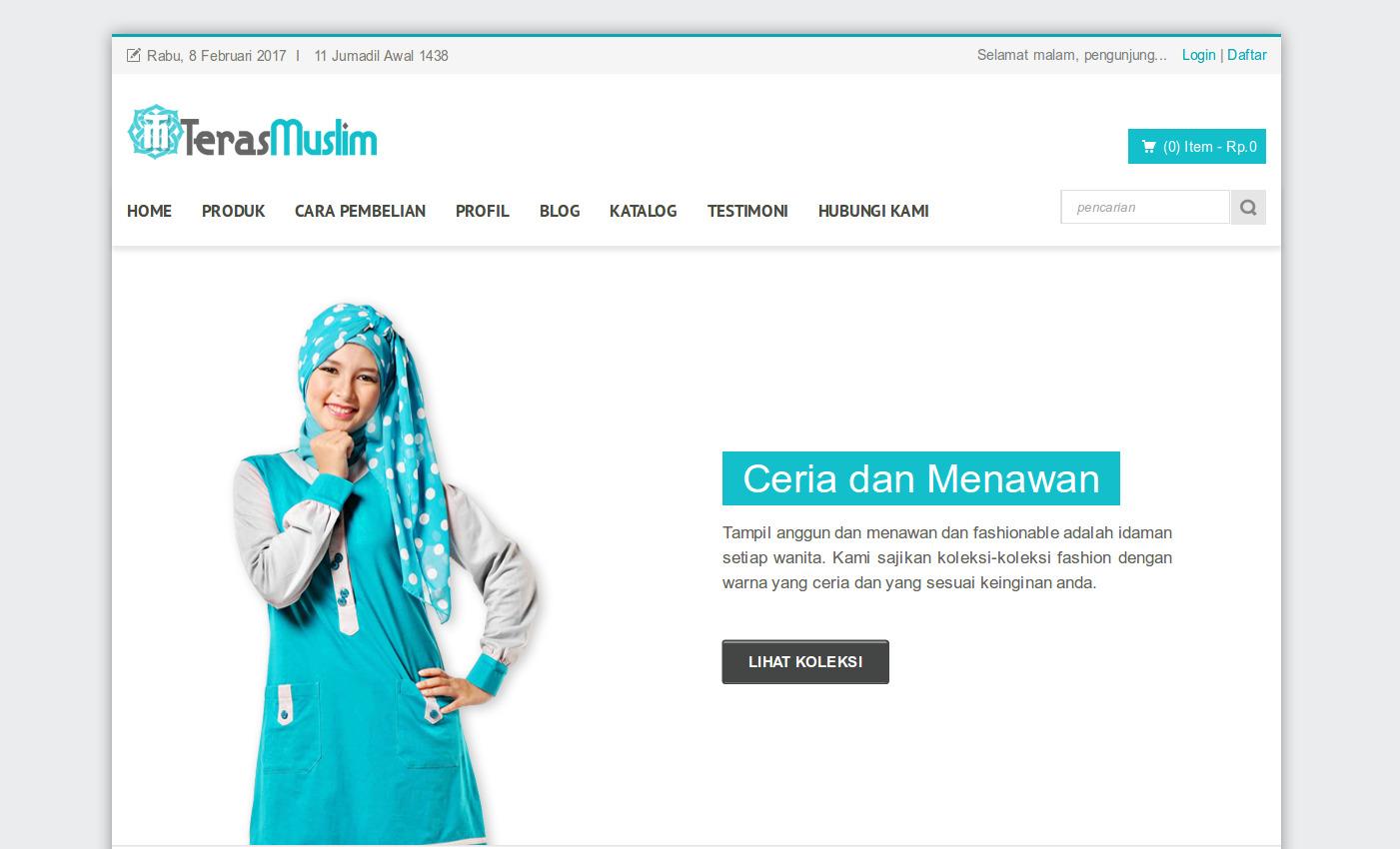 (Source Code) Toko Online Busana Muslim - Toko Online Busana Muslim  merupakan toko online yang sengaja dibuat untuk melakukan pemasaran dan  penjualan produk ... 911f992dff