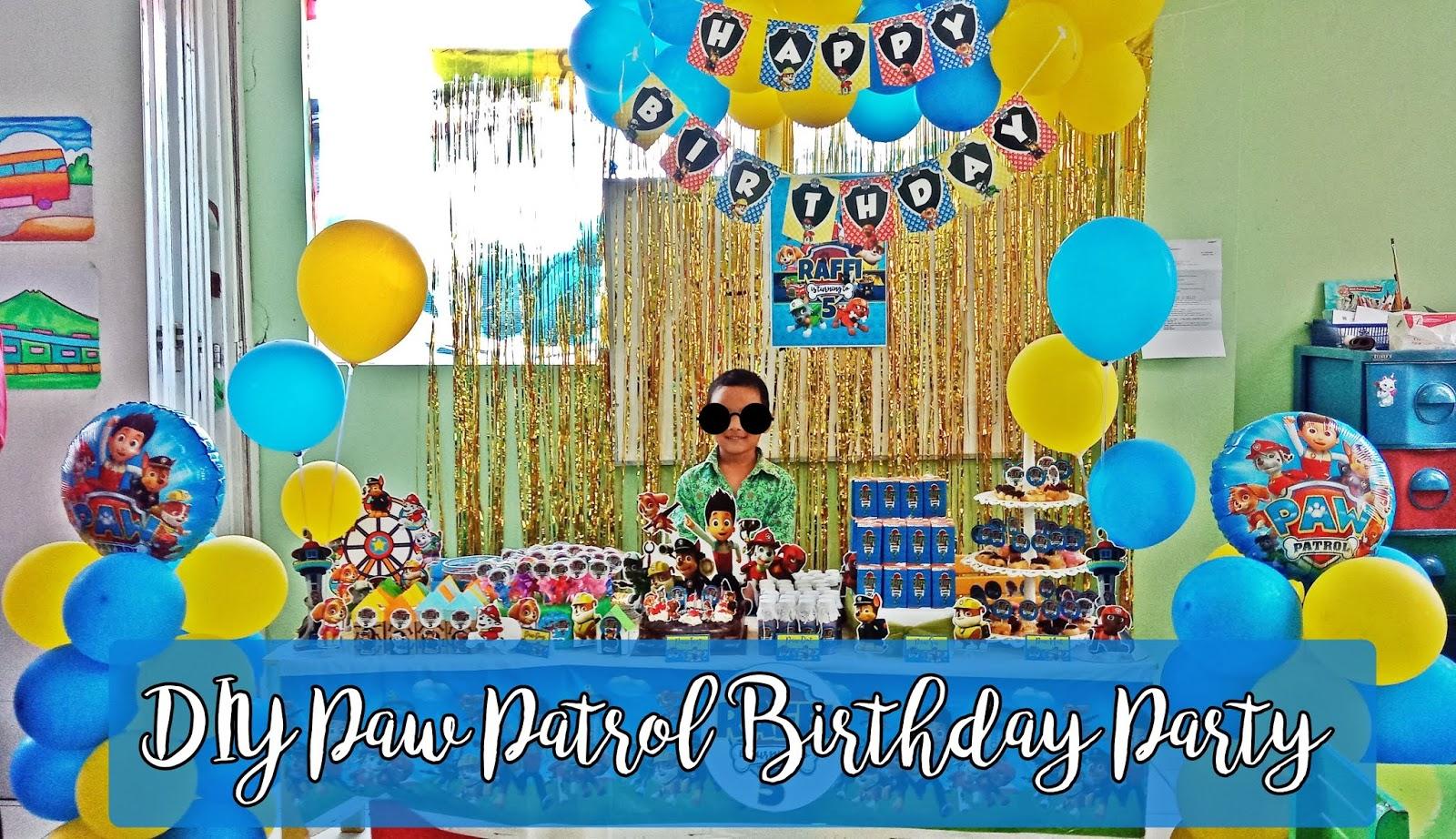 Cerita Cha Ultah Raffi Ke 5 Diy Paw Patrol Birthday Party