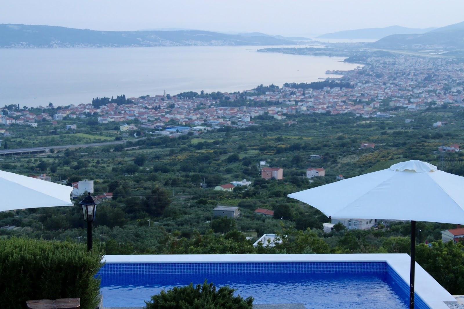Unser Ausblick von der Villa Hill View, Kroatien