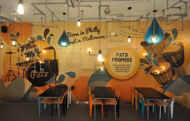 Desain  Motif Dinding Cafe  Unik dan Keren