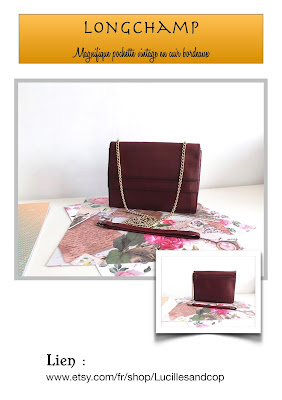 pochette soirée, sac longchamp, longchamp bag, wedding dress, wedding clutch, cuir bordeaux