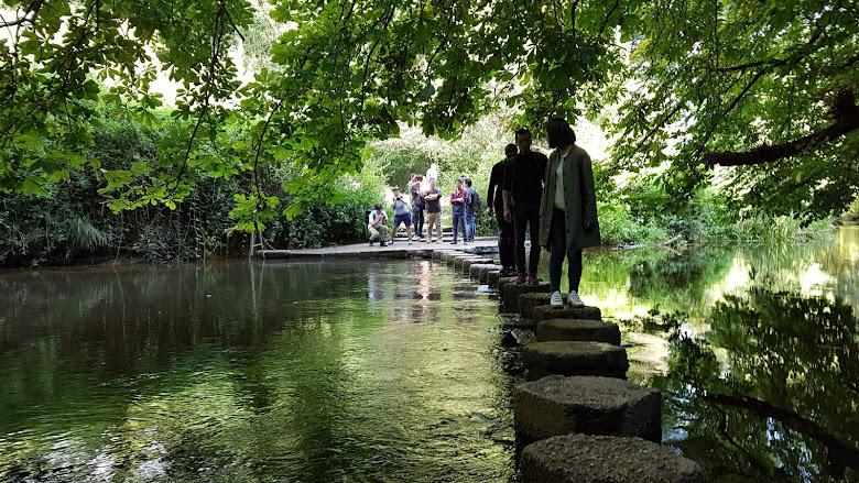 踩著踏腳石跨過河流⋯⋯