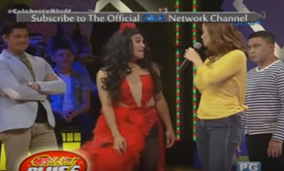 Boobay making 'tarayan' with Ms. Eula Valdez on Celebrity Bluff