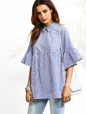 http://es.shein.com/Blue-Striped-Ruffle-Sleeve-Babydoll-Blouse-p-312384-cat-1733.html?utm_source=mivida-enblog.blogspot.com.es&utm_medium=blogger&url_from=mivida-enblog