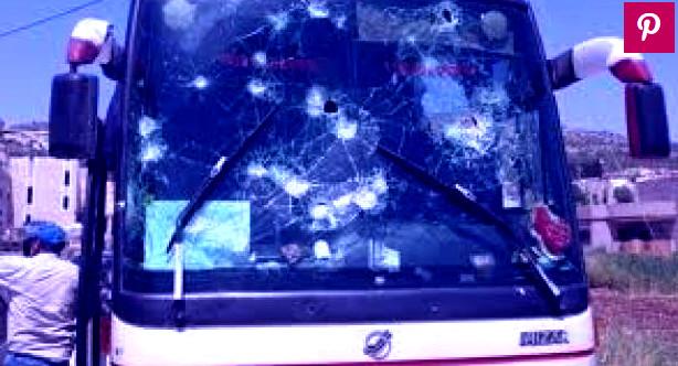 """حافلة للركاب تتعرض """"للهجوم"""" من طرف تلاميذ محتجين بتارودانت"""